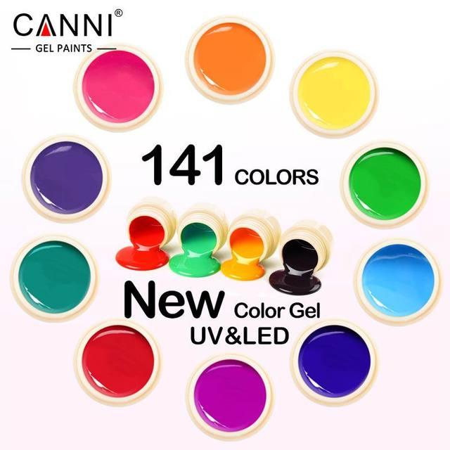 #50618 New 2017 CANNI Nail Art Tips Design Manicure141 Color UV LED Soak Off DIY Paint Color Gel Ink UV Gel Nail Polish Lacquer