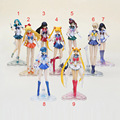 Anime Sailor Moon figure sailor venus jupiter uranus neptune mars mercury PVC Action Figure Toy approx 15cm