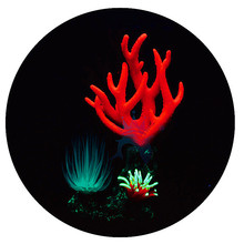 Aquarium Decoration Ornament Simulation Luminous Silicone resin Coral Fish tank Water grass Landscape Aquatic Supplies product