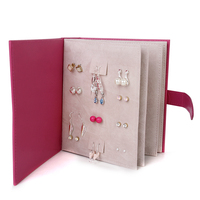 Lovely Notebook Diary Design Earring Ear Stud Jewelry Display Holder Rack Stand