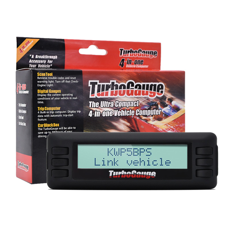 TurboGauge IV 4-in-1 Vehicle Auto Trip Computer Scan Tool Digital Gauge  OBDII/EOBD Car Trip Computer Scan Gauge Car Scan Tool