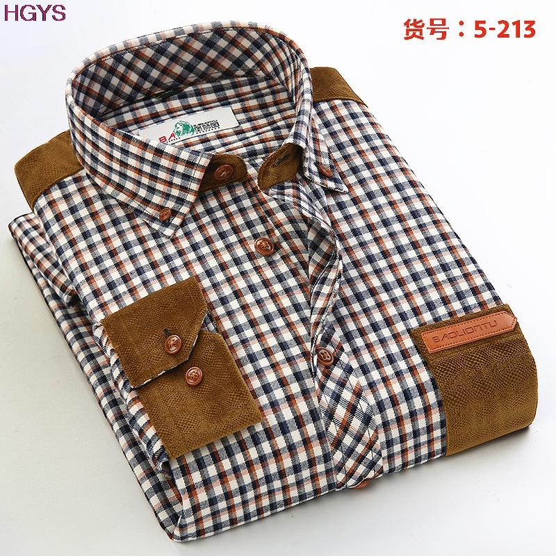 Vogue of new fund of 2018 mill MAO male splicing plaid shirt Leisure trend of cultivate ones morality