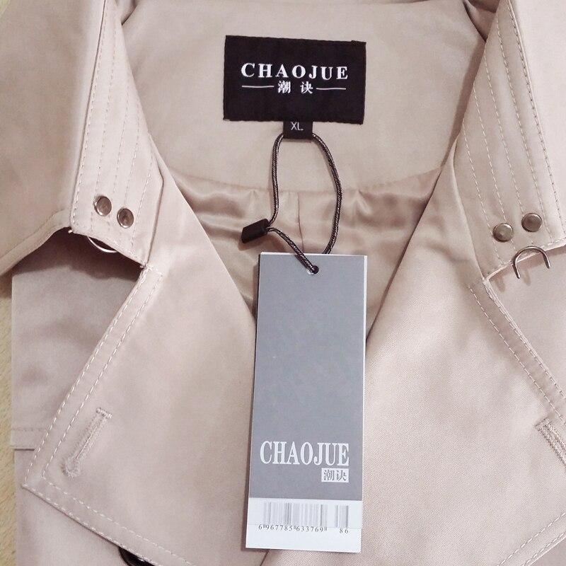 CHAOJUE бренд настроить одежда высшего качества Британский двубортный мужской длинный плащ Европа Тренч Куртка Пальто Тренч - 4