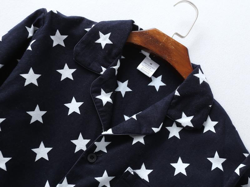 Fashion stars sale pyjamas for man 100% brushed cotton casual winter pajamas sets men sleepwear pijamas male pajamers for men 13