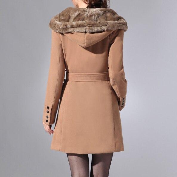 TANGNEST Женщины Тренчкот Плюс Размер Британский Стиль Моды Теплая Зима Осень Нечеткое Дамы Долго Clothing Casaco Feminino WWF412