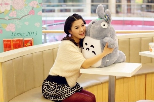 new plush cute Totoro toy stuffed classic expression totoro doll gift about 60cm 0354