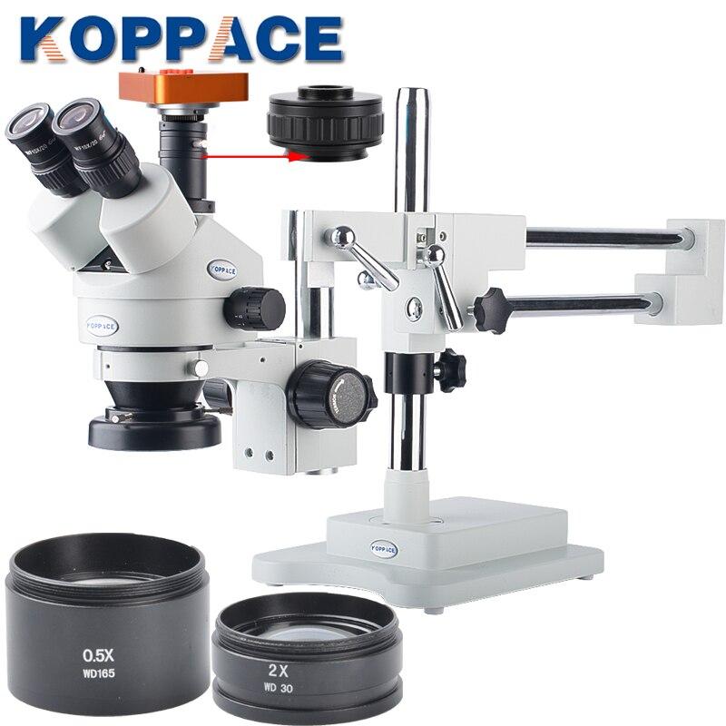 21MP Full HD 1080 P 60FPS HDMI Industria Electron Microscopio Digitale di riparazione del telefono Mobile Della Macchina Fotografica 3.5X-90X Microscopio Stereoscopico