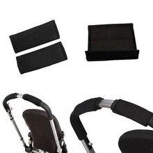 1pair Black Baby Pram Stroller Carriage Front Handle Neopren