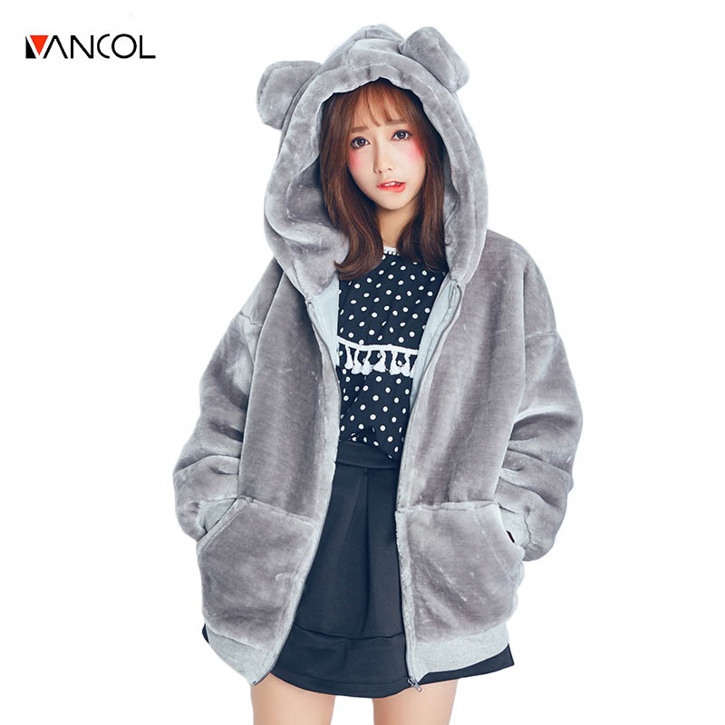 Online Get Cheap Cute Coats Jackets Women Zipper Female Hooded ...