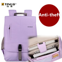 Yinuo Waterproof Laptop Bag Computer Notebook Backpack Business Backpack Students Boy Girl Travel Bag Anti Theft