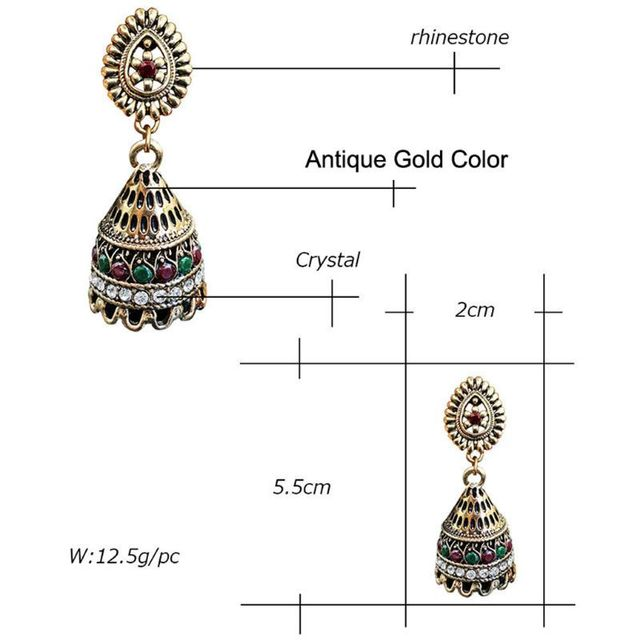 8c6a030ce Oxidised Plated Gold Jhumka Indian Unique Ethnic Bollywood Drop Earrings  Jewelry