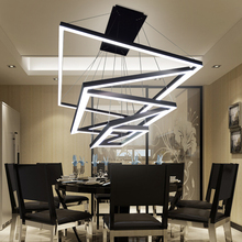 Double staircase loft net bar lighting atmosphere guest restaurant postmodern simple creative personality art LED chandelier