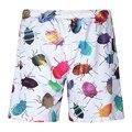 Par de Pantalones Cortos de Los Hombres pantalones Cortos Mujeres de Verano 3D Insectos Impreso Beach Short Shorts Hombre Bañadores Hawaii Mar
