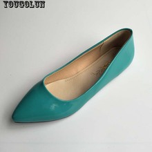 YOUGOLUN Flat Shoes Women Elegant Office Pointed toe Flats Fashion Ladies Black Red Yellow Green Blue Apricot Spring Autumn Shoe
