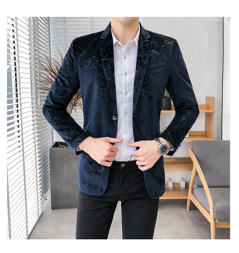 Blazer Masculino Slim Fit Casual Blazers Men Suits Wedding Blazer For Men (6)