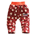 2015 new spring & autumn kids pants National flag pattern cotton boy girl pants 1 piece baggy pants baby pants 0-2 years