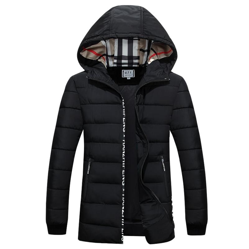Q-IMAGE Men Hoody Winter Coats Male Hooded Plus Size XXXL 4XL Jackets Teenager Slim Fit Windbreaker Down Parkas