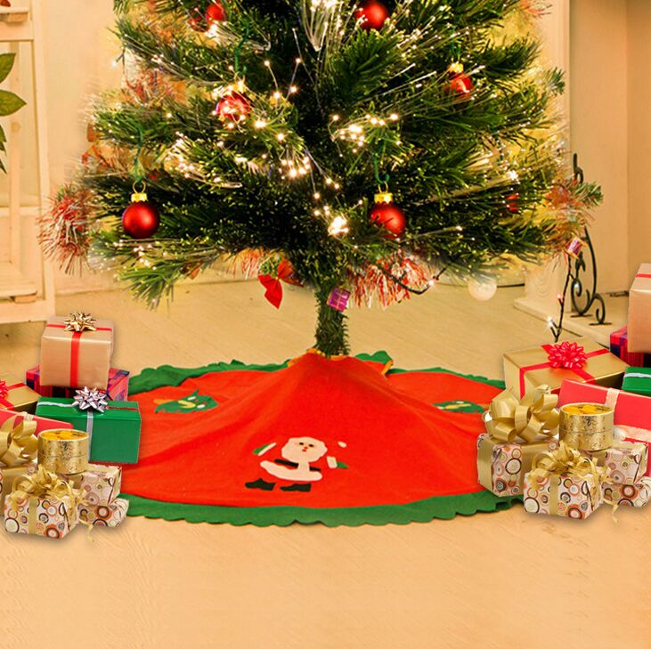 aliexpresscom buy christmas tree skirt mat floor protector xmas rug indoor decor reindeer santa from reliable santa suppliers on youming store - Indoor Decorative Christmas Trees