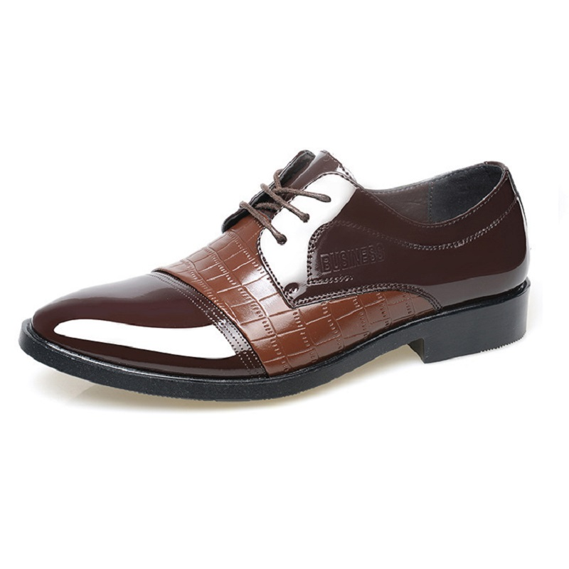 Male Fashion Leather Men Oxford Lace-Up Casual Business Wedding italian Pointed Toe Height Increasing Man Dress shoes 522 2016 new fashion 100% real genuine leather formal brand man italian oxford men s business dress lace up shoes gl065