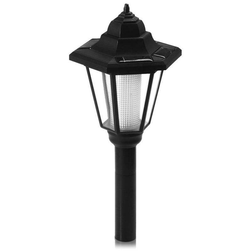 Solar Power LED Garden Fence Outdoor Lamp Path Way Wall Landscape Mount Light ##