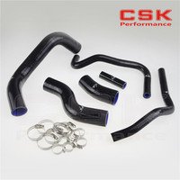 Radiator Coolant Heater Silicone Hose +CLAMPS  for 2013-2014 Su baru BRZ FR-S GT86 BLACK
