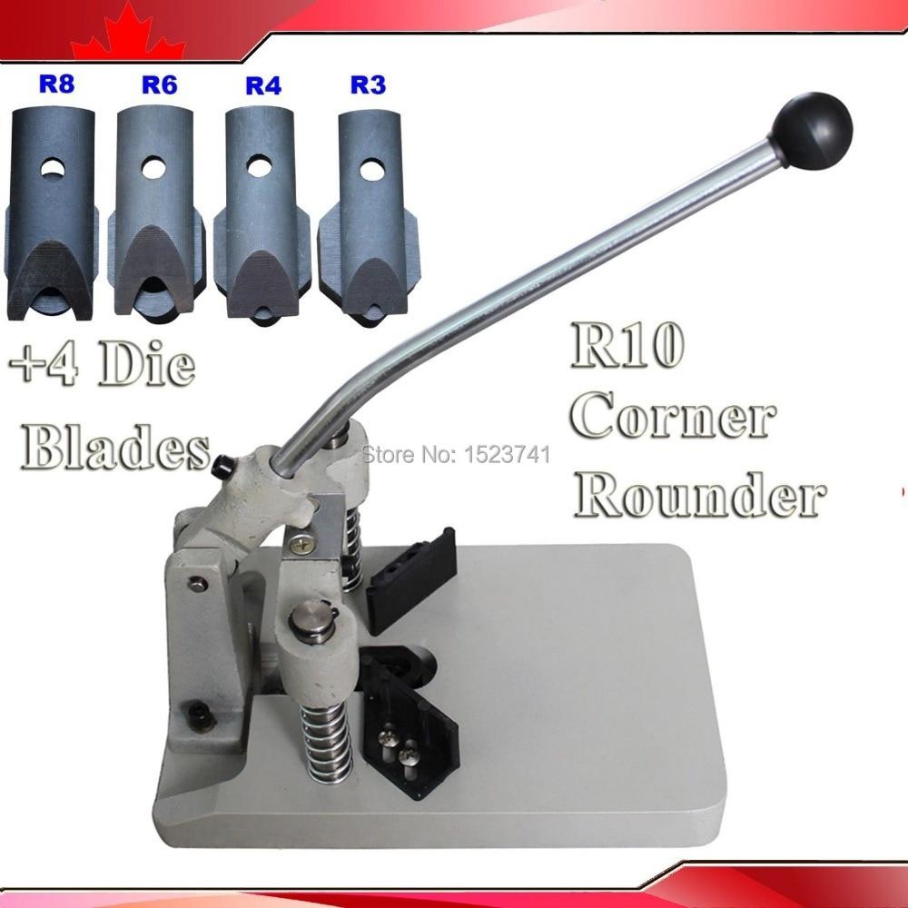 Heavy Duty Corner Cutter with 2 Dies Round Corner Machine with Dies R8 /& R10
