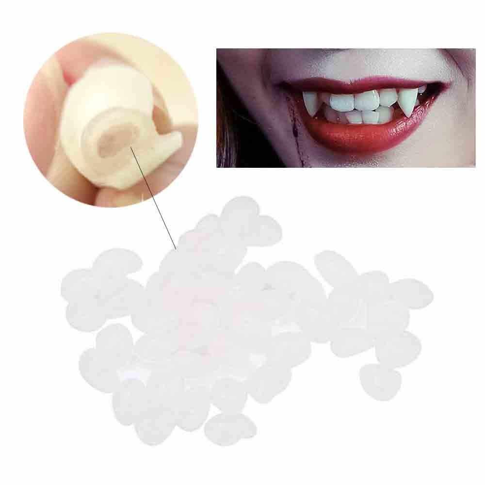 4 tamanho Presas de Vampiro Dentes Dentaduras Adereços Adereços Do Traje de Halloween Do Partido Favores Decorações Do Feriado DIY horror adulto para as crianças