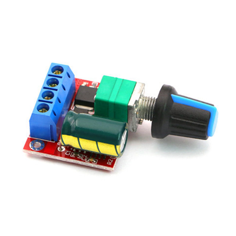 цена на Mini DC-DC 4.5V-35V 5A 90W PWM DC Motor Speed Controller Module Speed Regulator Control Adjust Board Switch 12V 24V PN35