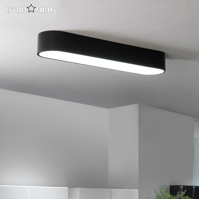 Simple Modern Ceiling Light Flush Mount Ceiling Light Black White Room Lamp  Plafon Led Home Ceiling