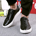 Men Patchwork Board Shoes Casual Outdoor Genuine Leather Male Shoes Spring Autumn Men Dress Footwear SMYLMX-F0037