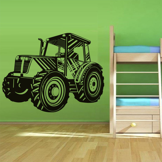Boys Bedroom Decor Decals Fashion Tractor Wall Sticker Home Decorative Vinyl Removable Car Decal Nursery