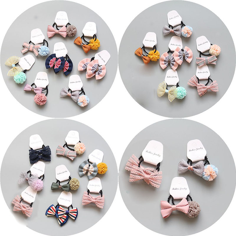 Sale Cute Child Princess Hair Rope Baby Hair Band Bow Knot Rope Ponytail Holder Flower Headdress in Hair Accessories from Mother Kids