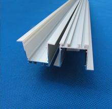 Free Shipping Milky frosted or transparent PC cover type recessed led aluminum profile with flat lens 2m/pcs 50m/lot