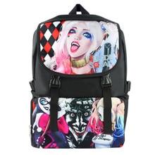 bcc6a38ff2dd Suicide Squad Harleen Quinzel Harley Quinn Nylon Waterproof Laptop Backpack Travel  Double-Shoulder Bag