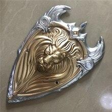 1:1 קוספליי זהב מלך אריות מלכותי משמר צדק מגן סרט נשק אבזר תפקיד לשחק PU פעולה איור דגם ליל כל הקדושים מתנה אמיץ