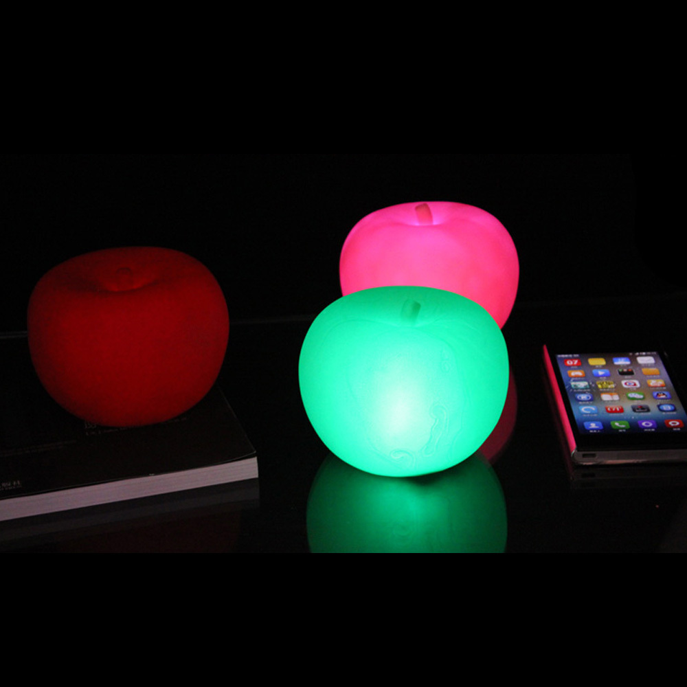 Childrens colour changing lights - 3pcs Lot 7 Colour Changing Christmas Apple Led Night Light Lamps Children S Xmas Gift Kids Bedroom Sleep Night Lamp 7cm 3 In Night Lights From Lights