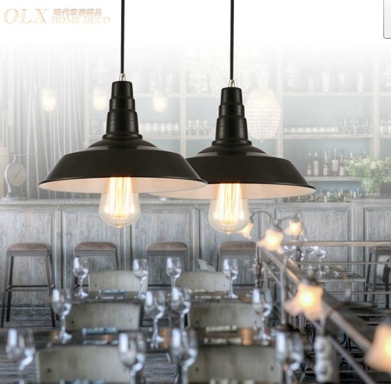 3PCS Bar fashion iron pendant light mahjong lamp Pendant lamps restore ancient ways the light bulb GY151 restore ancient ways wrought iron do old paris eiffel tower lift the bar tables and chairs