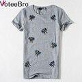 VoteeBro 2016 новый Горячий Би Pattern harajuku футболка женщин блестки топ Вышивка футболки девушка новые camisas femininas футболка женщины