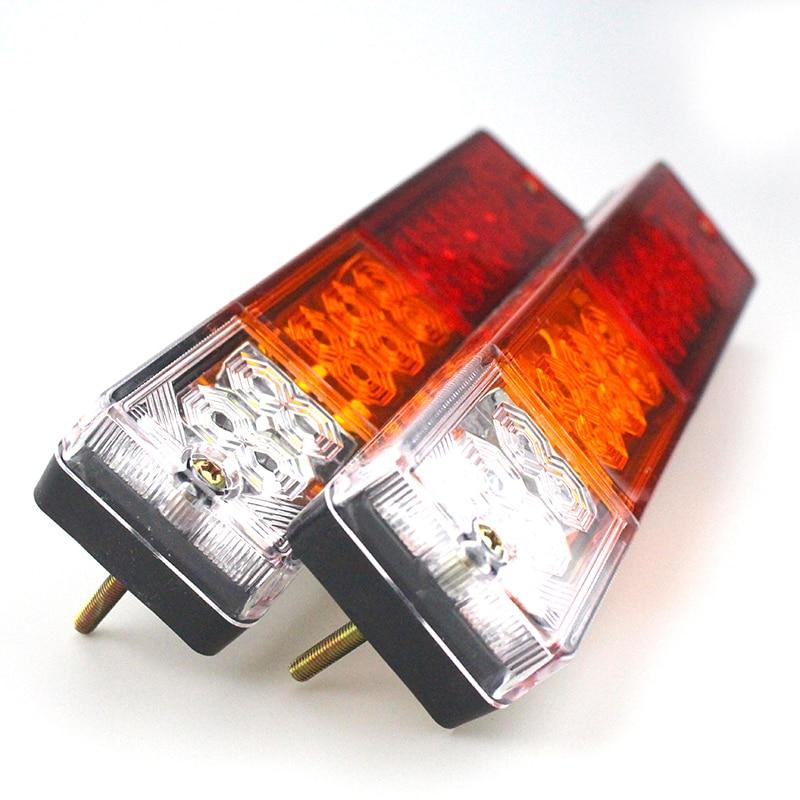 12V Universal 12V Universal Trailer 20 LED Side <font><b>Lights</b></font> for Car Truck Boat +License Plate <font><b>Light</b></font> Kit Bright Waterproof Car Led Lam
