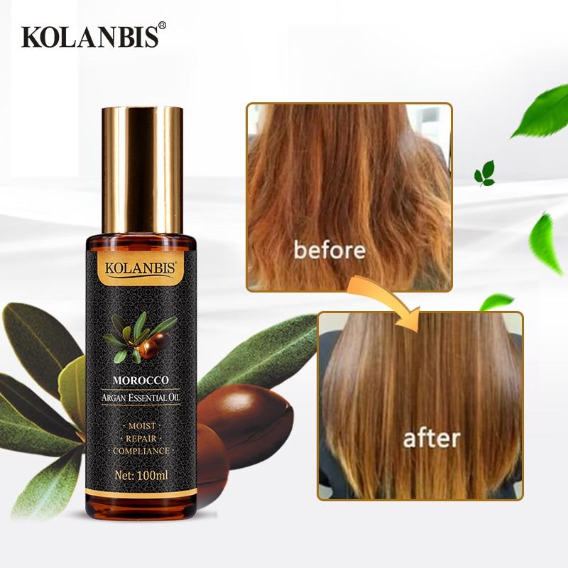 Natural Pure Moroccan Argan Hair Essential Oil Leave In Conditioner For Split Ends Long Hair Treatment Organic Argan Oil Serum