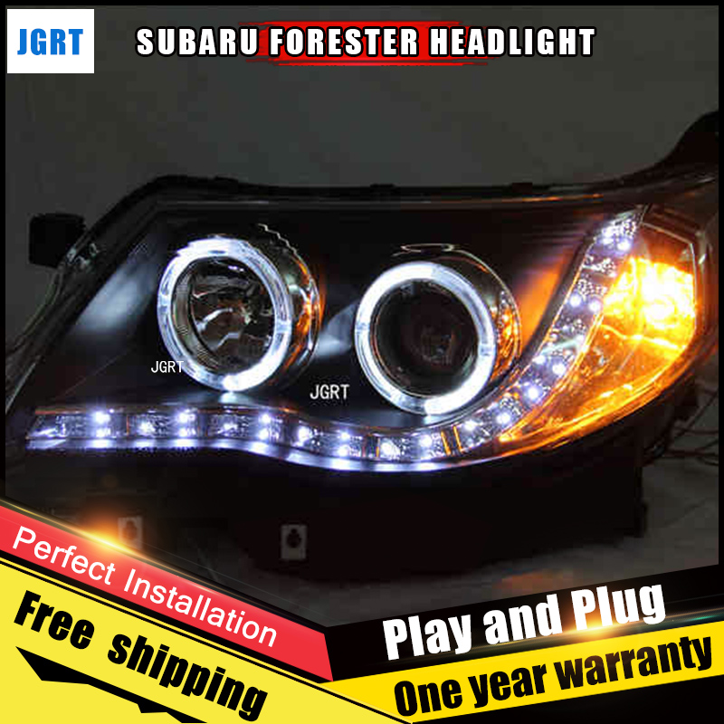Car Style LED headlights for Mitsubishi Pajeo 2009-2012 for Pajero head lamp LED DRL Lens Double Beam H7 HID Xenon bi xenon lens стоимость