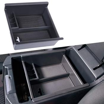 Center Console Organizer Insert ABS Black Materials Tray, Armrest Box Secondary Storage for Toyota 4Runner 2010-2019