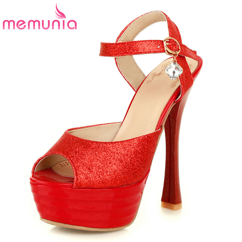 Summer Women Buckle Strap High Heels Sandal 2018 Elegant