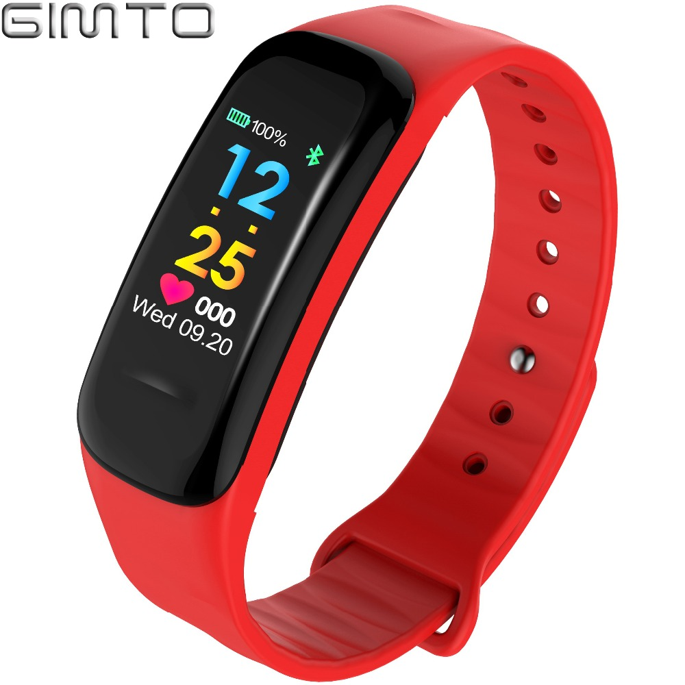 GIMTO Sport Smart Bracelet Watch blood pressure heart rate sleep monitor blood oxygen pedometer Waterproof Clock for IOS Android gimto smart bracelet men watches sport watch digital waterproof wristband heart rate sleep monitoring for android ios clock men