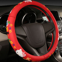 2017 New Cartoon Sticker 12 Options Car Steering Wheel Cover Cute Cartoon Universal Interior Accessories Car