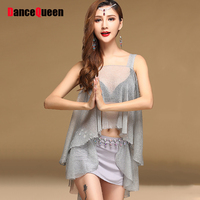 2017 Sex Female Belly Dance Dress Women Soft Yarn 2Pcs 3Pcs Wings Belly Dance Gypsy Indian Vestido Indiano Sari Clothing