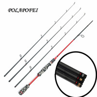 POLAPOFEI 2.1m 3 Tips Carbon Fishing Rod Spinning Rod Casting Rods ML M MH Power Fish Tackle Fly Carp Feeder Olta Peche C265
