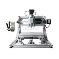 Russia tax free shipping Mini CNC 1610 + 500mw laser CNC engraving machine diy lathe with GRBL control