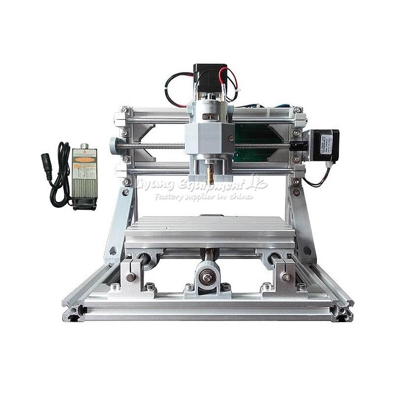 Russie livraison sans taxe Mini CNC 1610 + 500 mw laser CNC machine de gravure bricolage tour avec contrôle GRBL