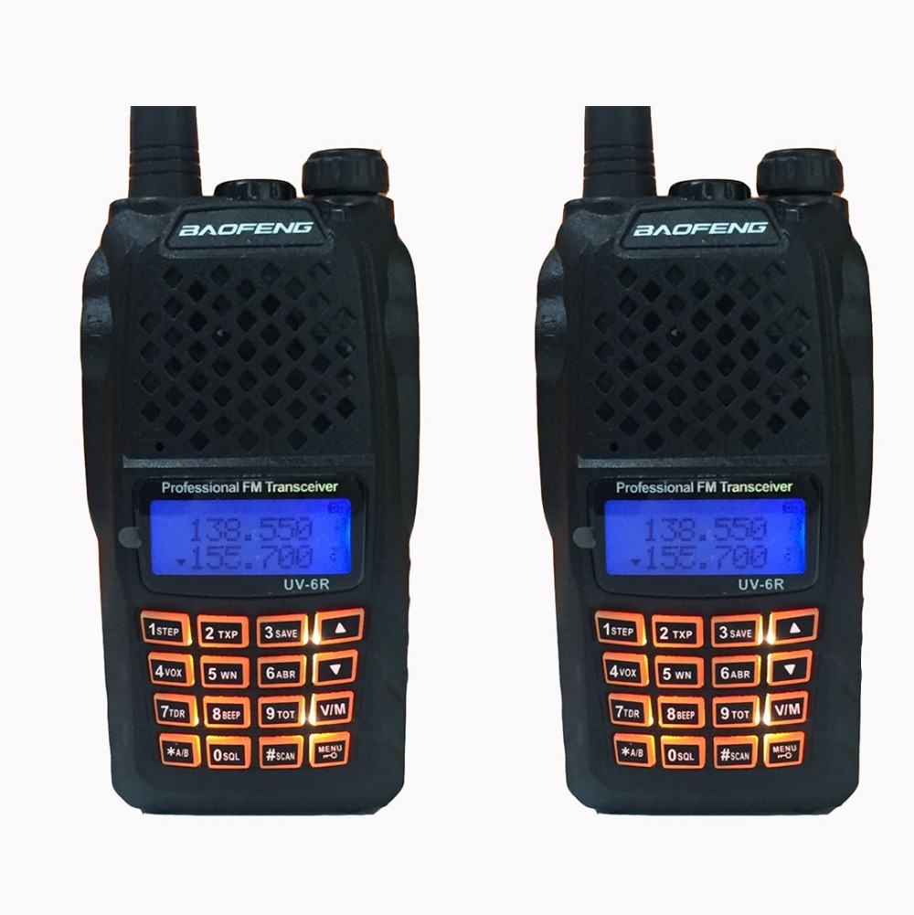 2pcs 10 KM hunting radios Communicator 7w powerful walkie talkies with 136 174MHz / 400 520MHz baofeng uv 6r professional handy-in Walkie Talkie from Cellphones & Telecommunications    1